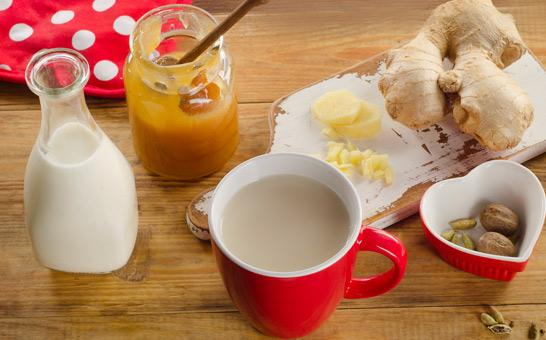 молоко-имбирь-орехи